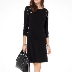 NWOT Michael Kors Grommet Lace Shift Dress Sz XXS
